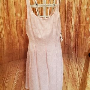 Nine West Floral Pink Mist Dress Sz 12 NWT